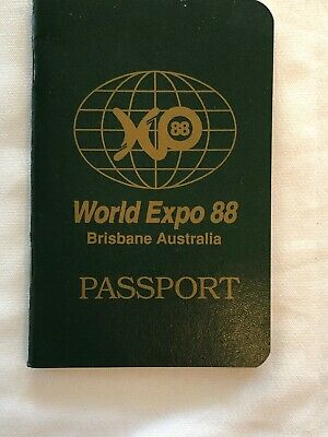World Expo 88 Brisbane Australia Passport - With Stamps
