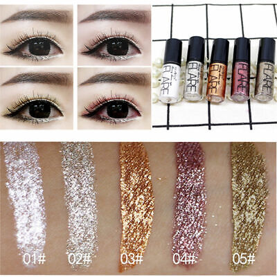 Shiny Waterproof Eyeshadow Glitter Liquid Eyeliner Makeup Metallic Pen 2019