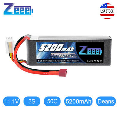 Zeee 5200mAh 50C 3S 11.1V Deans LiPo Battery for RC Helicopter Airplane Car Boat