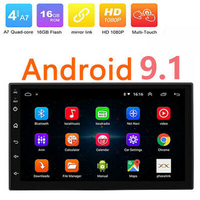 """Android 8.1 GPS Navigation WiFi 7"""" 2Din Quad Core Car Stereo MP5 Player FM Radio"""