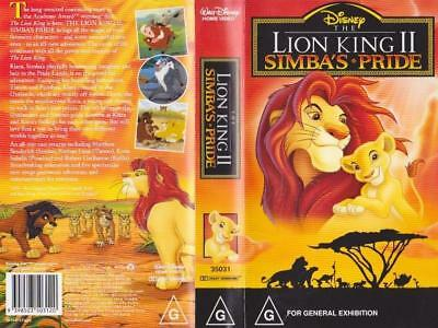 The Lion King  11  Mint Sealed Vhs Pal Video~A Rare Find