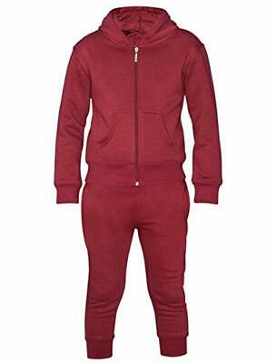 16sixty New Basic Kids Plain Tracksuit Set Fleece Hoody Top Bottom Zip Jogging