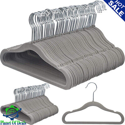 HOME Velvet Baby kids Infant Toddler Children Clothes Hangers Gray Pack of 50