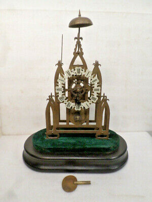 Antique Style Fusee Skeleton Clock With Bell Strike