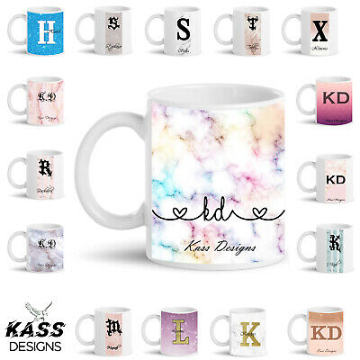 Personalised Mug Marble Pattern Glitter Mug Cup Name Text Unique Custom Gift Cup