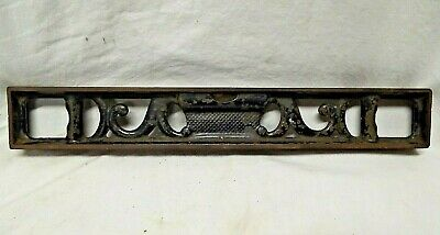 "OLD Antique CAST IRON 3 Bubble LEVEL LSS STARRETT Athol, Mass ORNATE 12.5"" Long"
