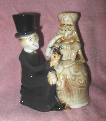 Yankee Candle 2010 Boney Bunch Wedding Couple Taper Candle Holder Mint