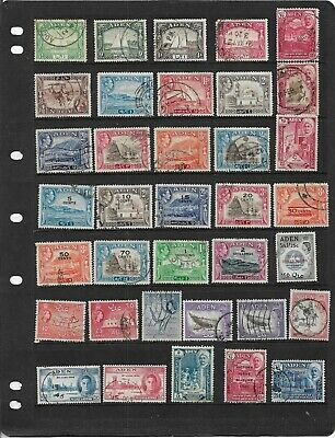 Aden King George Vi To Qe2 Used All Different Stamps From Old Collection