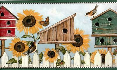 Country Sunflower With Ladybug Wallpaper Border Floral Trail Dark