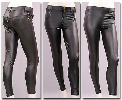 %SALE SeXy WETLooK LEGGINGS TREGGINGS Lack-Leder-Look Leggins Treggins 706