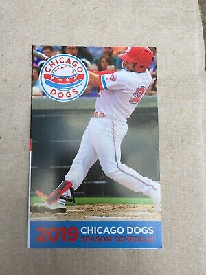 2019 Chicago Dogs American Association Of Independent Baseball Pocket Schedule