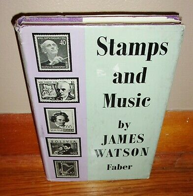 STAMPS AND MUSIC-Stamp Collecting & Themes-James Mason-Excellent RARE 1st HC dj!