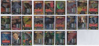 Dr Doctor Who Battles in Time INVADER Complete RARE 25 Card Set - Very Good Cond
