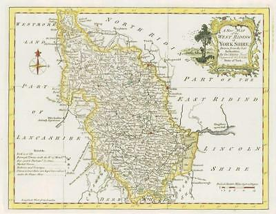 1764 Original Antique Map - YORKSHIRE WEST RIDING by Thomas KITCHIN (42)