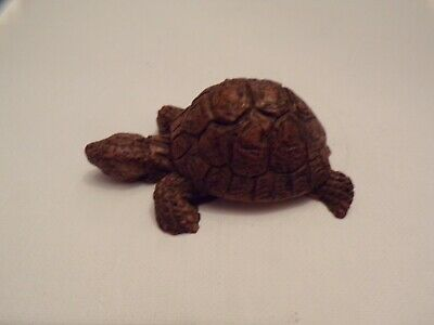 Brown Mini Turtle Figurine