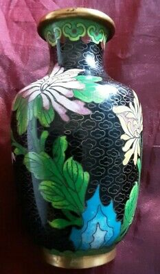 Fine Early 19Th Chinese Cloisonne Gilt Metal  Vase, Quing Dynasty Vase,