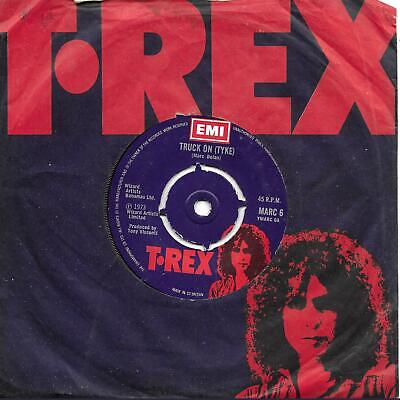"TREX T [Tyrannosaurus] Rex Marc Bolan Truck On (Tyke) UK 45 7"" sgl +Sitting Here"