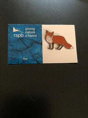 RSPB FOX charity pin badge GNAH BRAND NEW DESIGN CARD