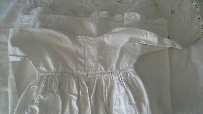 Victorian White Cotton Baby Gown