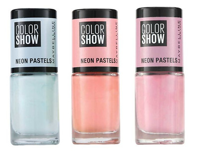 Maybelline Nail Polish | Color Show Neon Pastels | Assorted Colours | 7ml