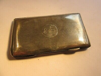 solid silver card case    sampson mordan and co  chester 1913