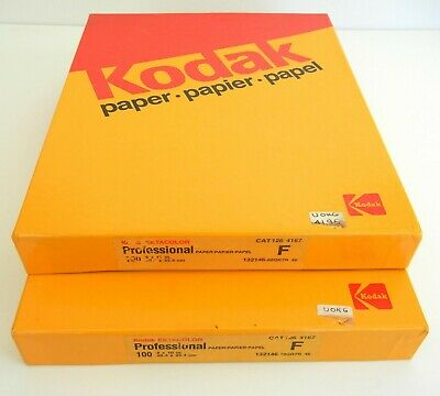 Vtg NOS Sealed Boxes KODAK Ektacolor F Professional 200 Sheets 8x10 PHOTO PAPER