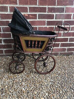 "14"" Antique Wooden Stroller"