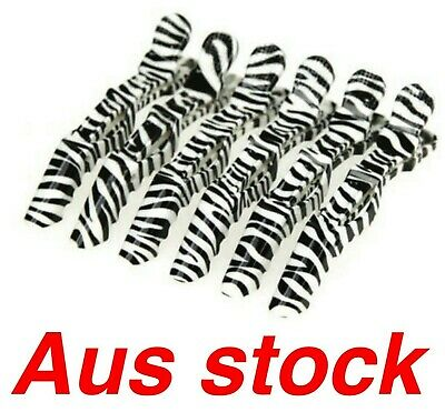 6 x Zebra print Hairdressing hair cutting Sectioning clips