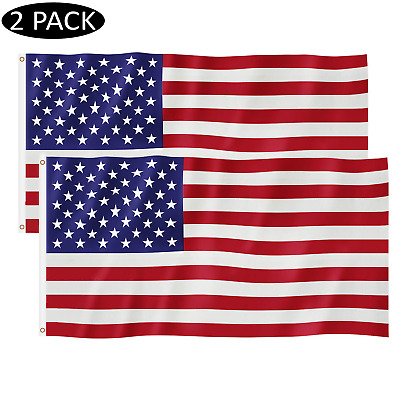 3x5 US American Flag Made In USA Stars Bright Vivid Color and Premium Material