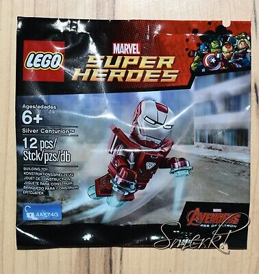 LEGO Marvel Iron Man Silver Centurion Minifigure 5002946 New In Package Polybag