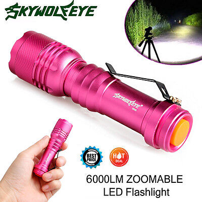 6000LM Lamp Q5 3 Mode Zoomable LED Flashlight Torch Super Bright AA/14500 Lamp