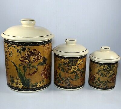 Kitchen Canister Set Flowers Pioneer Woman Country Garden 3