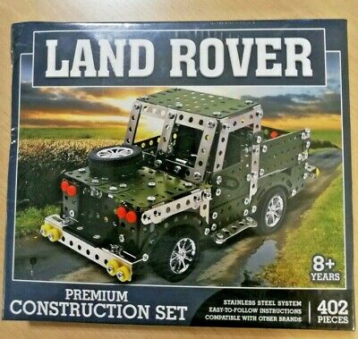 LAND ROVER PREMIUM CONSTRUCTION SET STAINLESS STEEL SYSTEM MECCANO COMPATIBLE