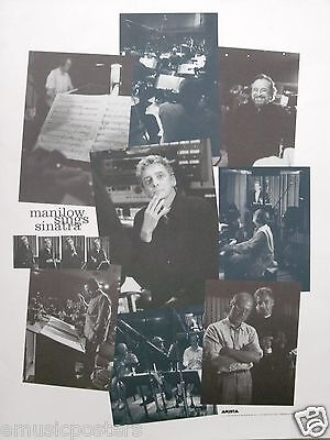 """BARRY MANILOW """"SINGS SINATRA"""" U.S. PROMO POSTER - Shots of Barry in the Studio"""