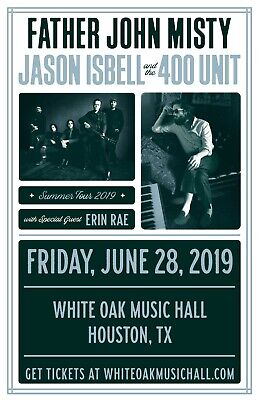 "Father John Misty / Jason Isbell ""Summer Tour 2019"" Houston Concert Poster"
