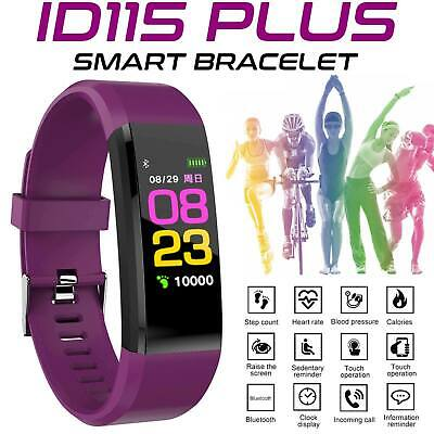 Fitness Activity Tracker Heart Rate Monitor Bracelet Pedometer Smart Watch WR