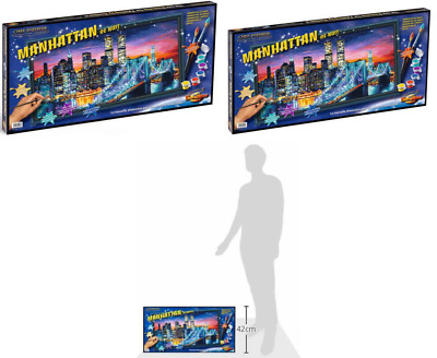 Schipper 609220369 Manhattan at Night Paint By Numbers Board