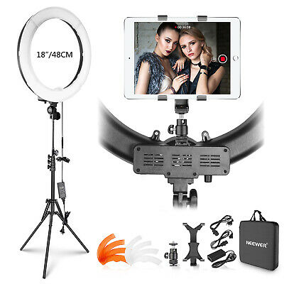 Neewer 18 inches Outer 55W 5500K Dimmable LED Ring Light with Light Stand