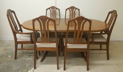 PARKER KNOLL Mahogany Veneer Extending Dining Table With 6 Chairs - A27