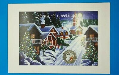 2003 Isle of Man Christmas 50p The Snowman And James in Christmas Card Genuine