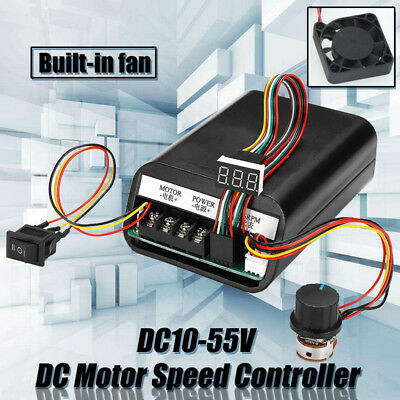 DC 10-55V MAX 60A PWM Motor Speed Controller CW CCW Revesible Switch   !