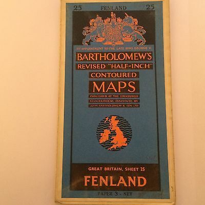 Bartholomews Map No.25 Fenland