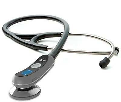 RETURNED ADC Adscope Model 658 Black Electronic Digital Amplified Stethoscope