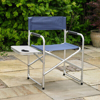 Directors Folding Picnic Chair Camping Outdoor Festival Side Table Cup Holder