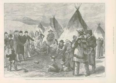 1890 - Antique Print AMERICA North American Indians Reserves    (075)