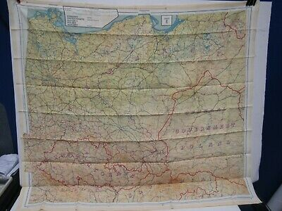 Orig. WW2 Silk Fabric US Air Force Germany Protectorate Evasion Cloth Escape Map