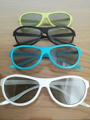 LG Cinema 3D Glasses - 4 Pairs Party Pack - NEW - Unboxed
