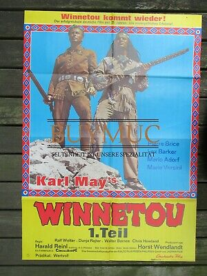 Karl May Winnetou1 großes Filmplakat, ohne Signatur 1963 Western MappeD1