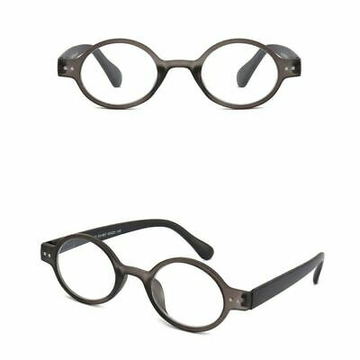 Readers Vintage Round Reading Glasses Retro Spring Hinges +1.0 1.5 2.0 2.5 3.5