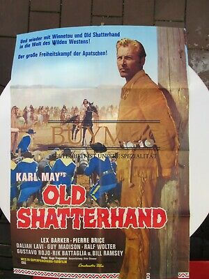 Karl May Old Shatterhand großes Kinoplakat, ohne Signatur 1964 Western MappeD1
